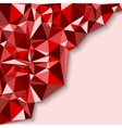 Geometric abstract background in red tones vector image vector image