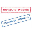 germany munich textile stamps vector image vector image