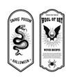 halloween poison label wool bat snake poison vector image vector image