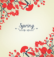 Happy spring flower background vintage vector image vector image