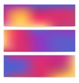 Horizontal banners set vector image vector image