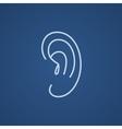 Human ear line icon vector image vector image