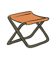 icon fishing folding chair white background vector image