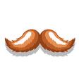 Image MustacheBrown vector image vector image