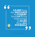 Inspirational motivational quote Learn from the vector image vector image
