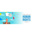 international human rights card of people parade vector image