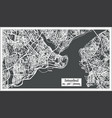 istanbul turkey map in retro style vector image