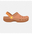 kid slippers icon flat style vector image