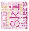 Kopaonik in Serbia text background wordcloud