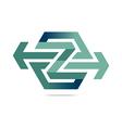 Logo Abstract Arrow Symbol Hexa Connecting Icon vector image vector image