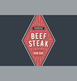 logo bbq beef steak vector image