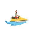 male jet ski rider extreme water sport activity vector image