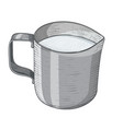 milk jug hand drawn sketch vector image