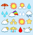 modern flat icons collection color image vector image vector image