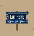 modern professional signage in retro theme vector image