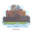 museums and landmarks netherlands or holland vector image vector image