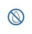 no water drop forbidding concept colored vector image