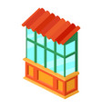 old balcony icon isometric 3d style vector image vector image