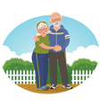 Old couple in track suits vector image vector image