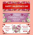 paper cut happy valentines day sale web vector image