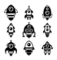 Rocket Icon Set vector image vector image