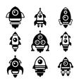 Rocket Icon Set vector image vector image