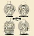 saint patricks elf cartoon vector image vector image