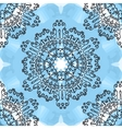 Seamless oriental Mandala Print on blue watercolor vector image