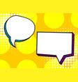 set dialog blank template pop art comic text vector image vector image