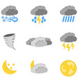 set of 9 weather icon weather label for web on vector image vector image