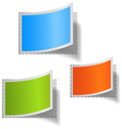set of multicolored blank labs vector image