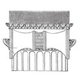 side view of the ionic capital the temple of vector image vector image