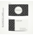 simple business card design Memphis style vector image