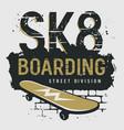 skateboard 012 vector image vector image