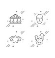 star face detection and carousels icons set seo vector image vector image