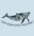 stop trashing our ocean vector image