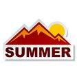 summer mountain sticker vector image vector image