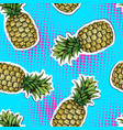 summer seamless bright pattern with pineapple vector image