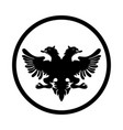 symbol of albania icon - iconic design vector image vector image
