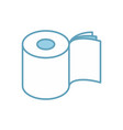 toilet paper three layers roll icon symbol for vector image vector image