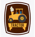 tractor design vector image