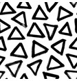triangles hand drawn seamless pattern vector image