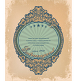 vintage label with grunge background vector image vector image