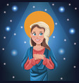 virgin mary bright background vector image vector image