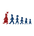 walk with jesus follow jesus cartoon graphic vector image