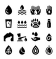 water icons set vector image vector image