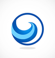 water symbol abstract wave logo vector image vector image