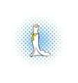 Wedding dress comics icon vector image vector image