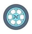 Wheel from racing car icon cartoon style vector image vector image