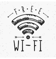 Wi-fi sign in vintage style vector image vector image